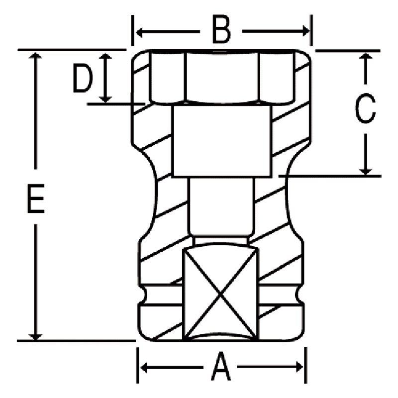Grey Pneumatic 4223C 1 Drive x 1-1/2 x 13/16 Square Socket