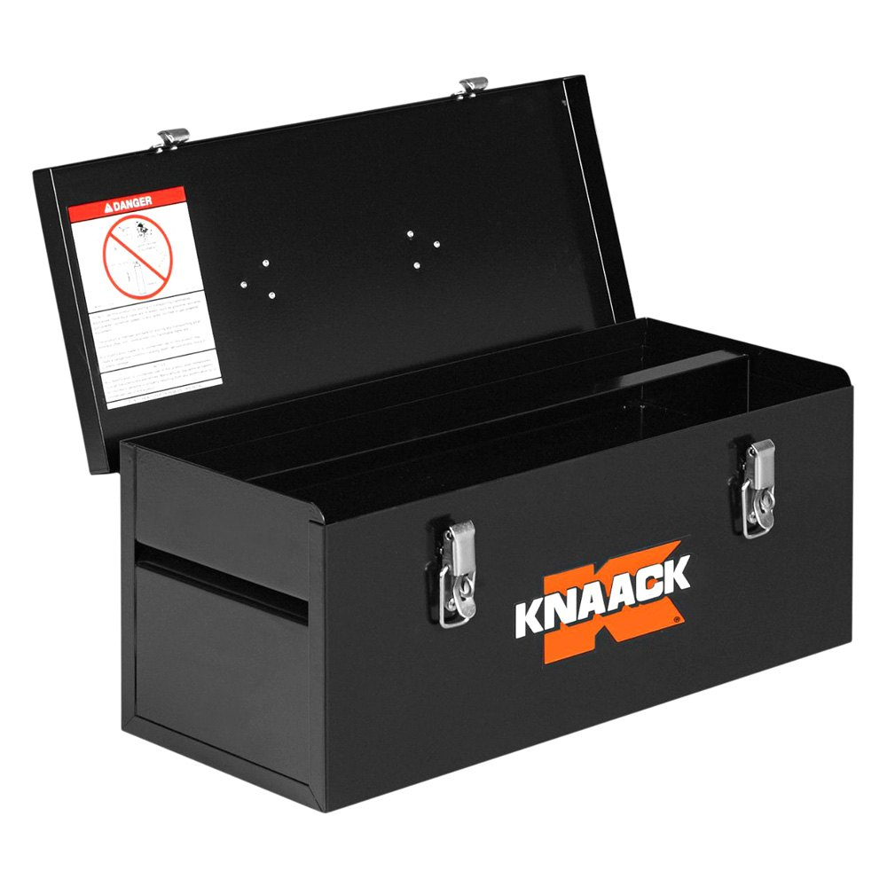 hight resolution of knaack steel tool box with tool tray 22 w x 9 d x