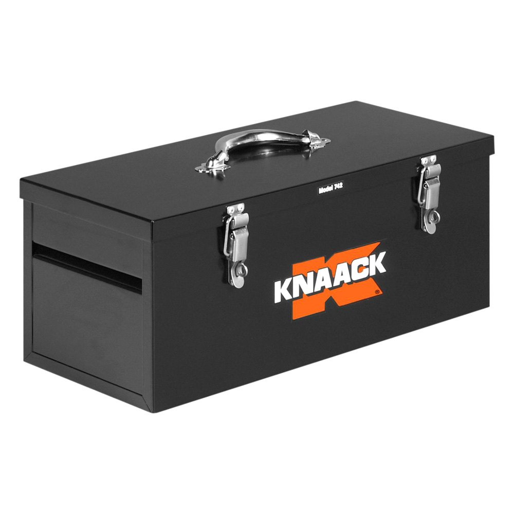 hight resolution of knaack steel tool box with tool tray 22 w x 9