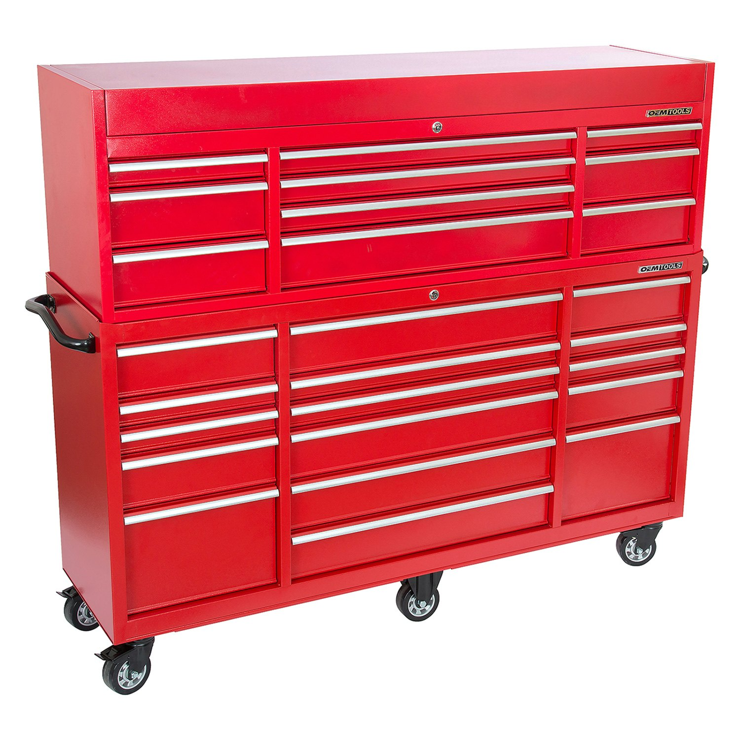 OEM Tools 24587  Red Rolling Tool Cabinet Combo 72 x
