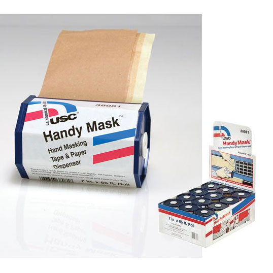 Handy Mask Hand Masking Tape Paper 12 Pk Display US