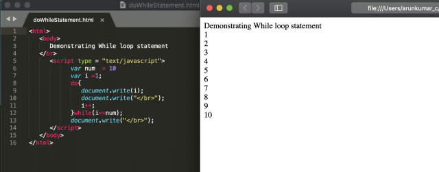 JavaScript Loop - While, Do-While, For and For-In Loops in JavaScript