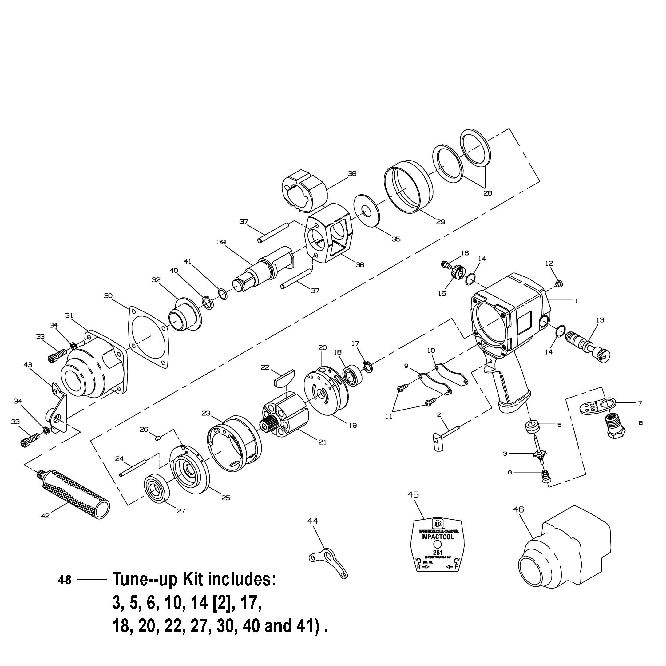 Ir 261 3 4 Impact Wrench