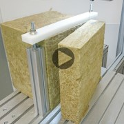 rock wool cutting with diamond loop
