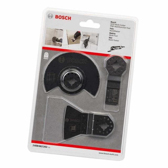 bosch 2608662342 3pc multi tool tile blade set