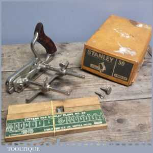 Good Complete Boxed Stanley No 50 Combination Plane