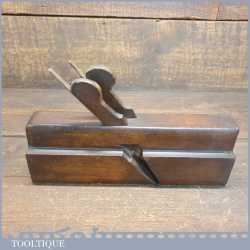 Antique Coates Manchester 1861-1869 Twin Bladed Complex Beechwood Moulding Plane