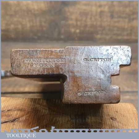 """Antique Varvill & Sons ¼"""" Tongue Beechwood Moulding Plane - Good Condition"""