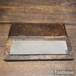 """Vintage 7"""" x 1 ¾"""" llyn Adwal Natural Stone In Pine Box - Lapped Flat"""