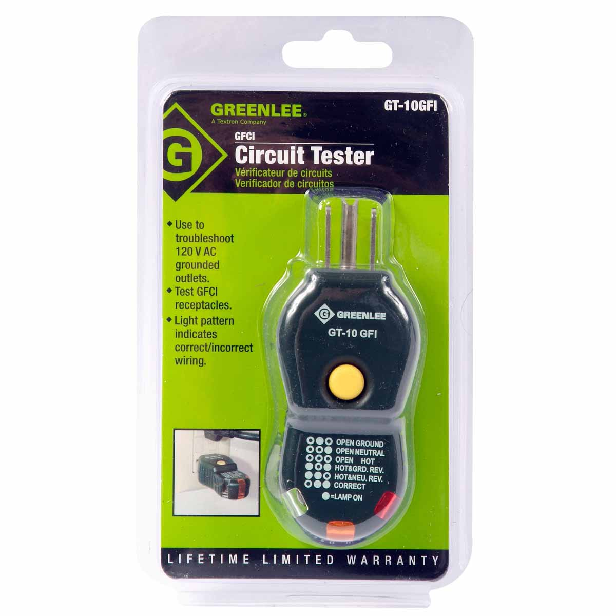 Greenlee Gt 10gfi Gfci Circuit Tester