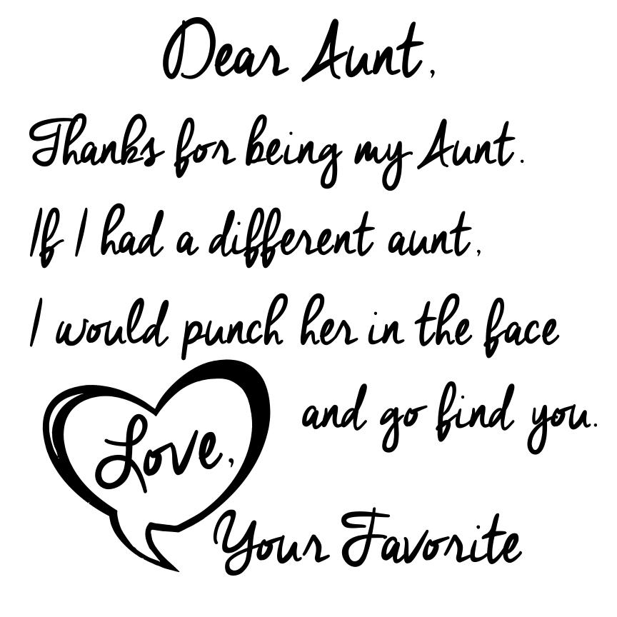 Dear Aunt Short Sleeve Tee