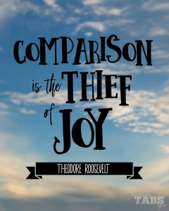 Comparison is the Thief of Joy - Too Many Tabs Open