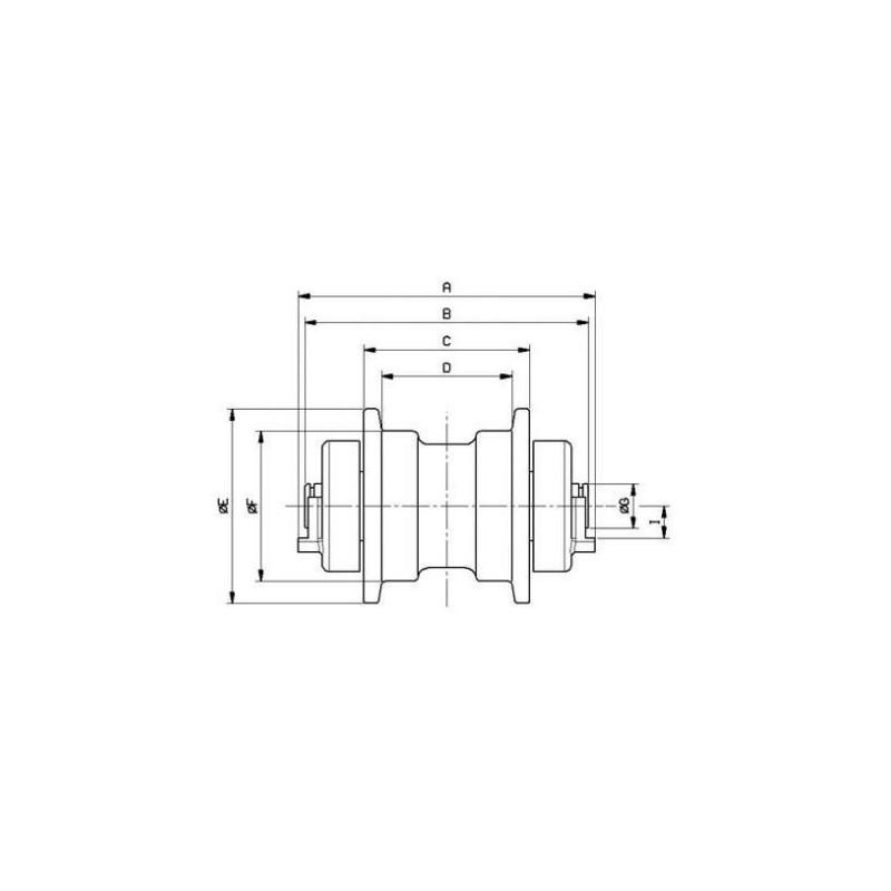 Galet inférieur pour mini-pelle KOMATSU PC10.1 / PC10.2