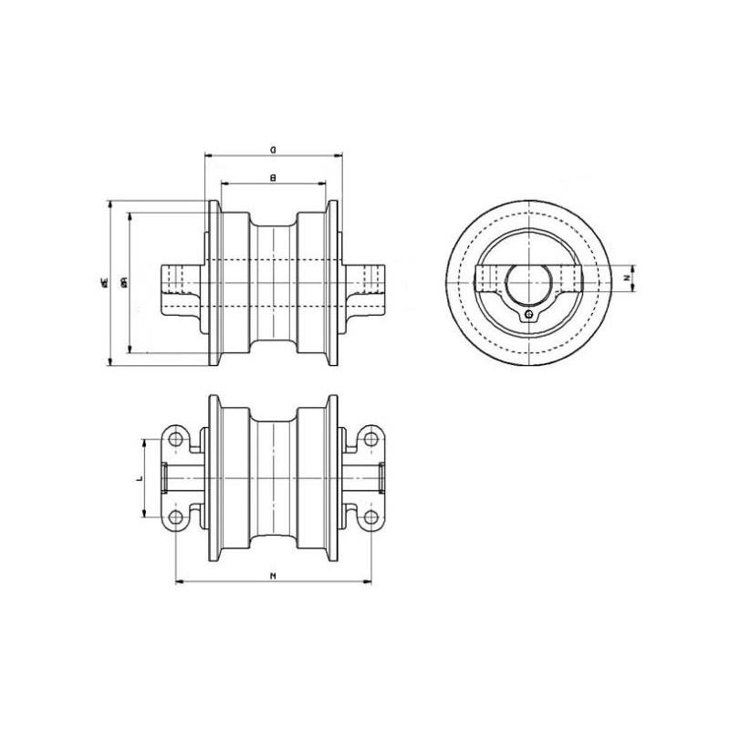 Untere Laufrolle für Minibagger FIAT HITACHI EX135
