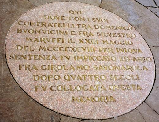 Savonarola Plaque
