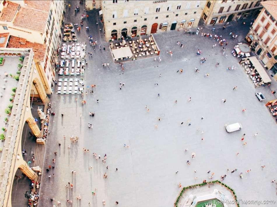 Piazza della Singoria from the Arnolfo Tower