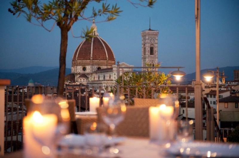 Panoramic Views Of Florence Roof With View In Firenze