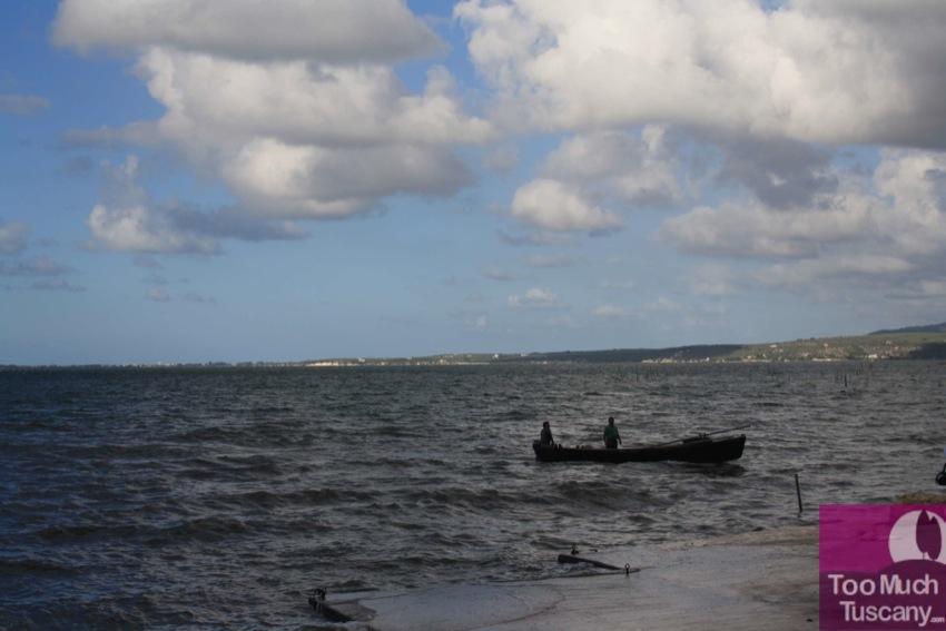 Fishermen on Varano Lake
