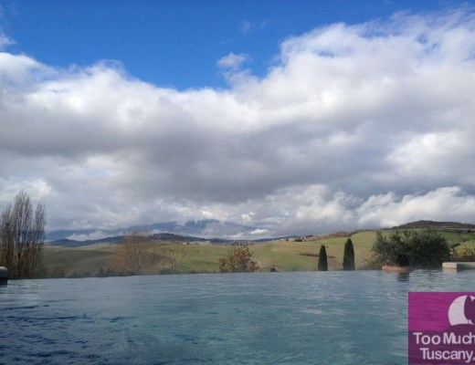 Infinity pool at San Casciano dei Bagni