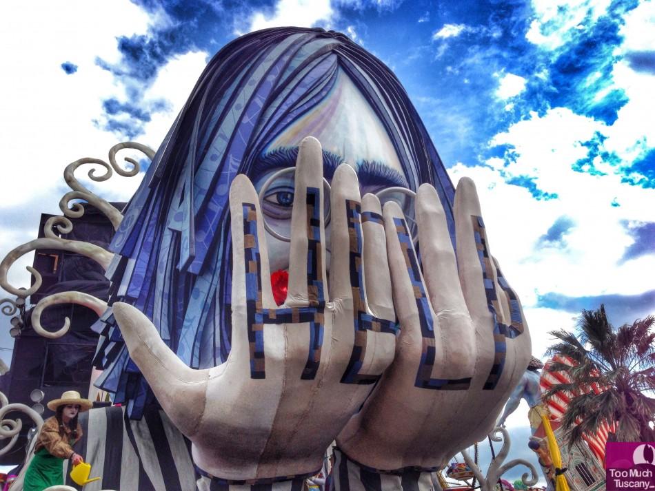 John Lennon at Carnevale di Viareggio 2014