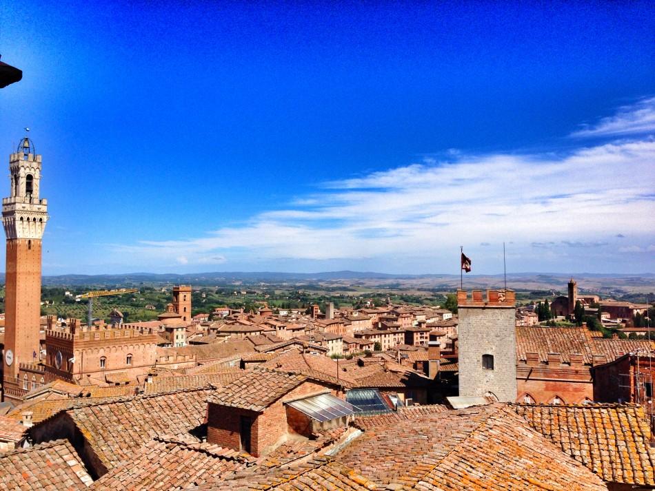 Siena landscape from Porta del Cielo tour