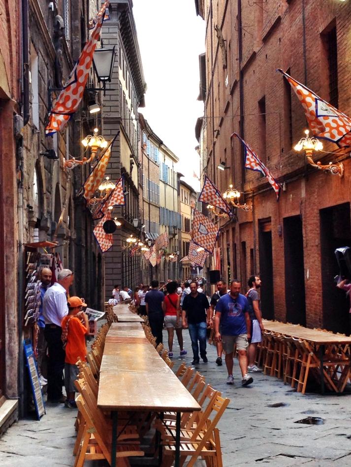 Contrada Leocorno during Palio