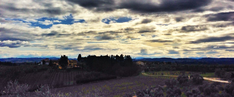 March landscape in Tuscany