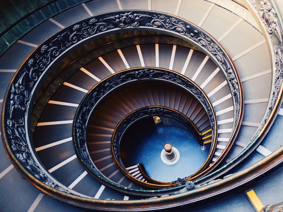 The Vatican Museums' staircase