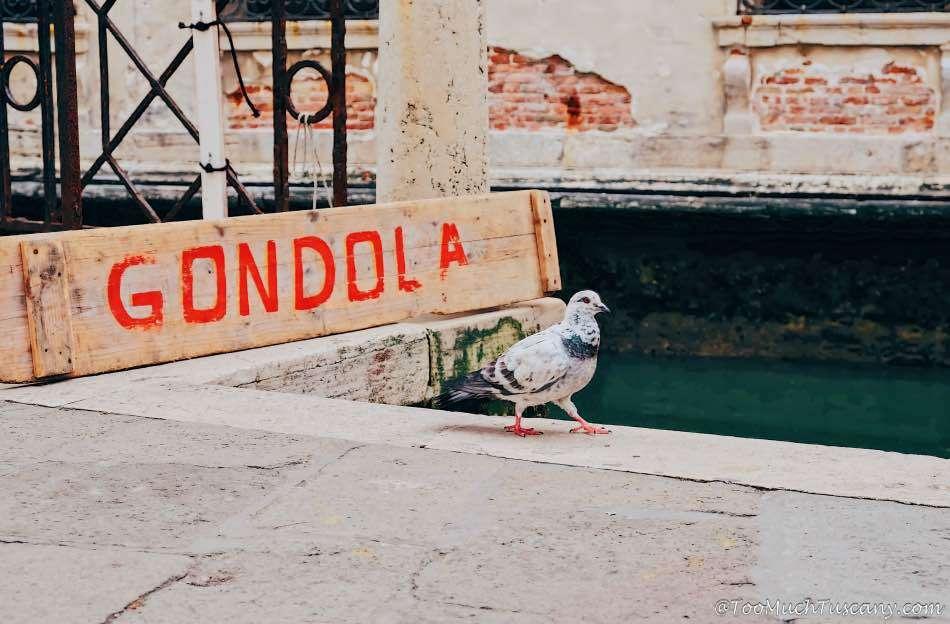 Gondola service in Venice