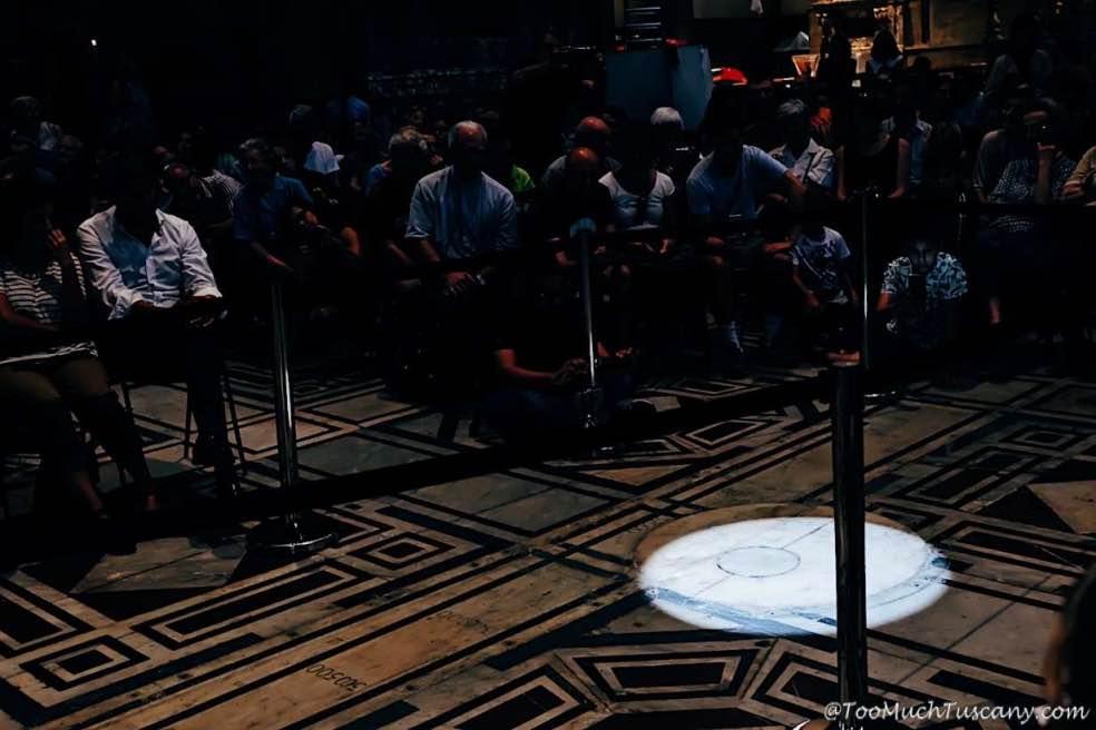 When the sun touches the Duomo's floor