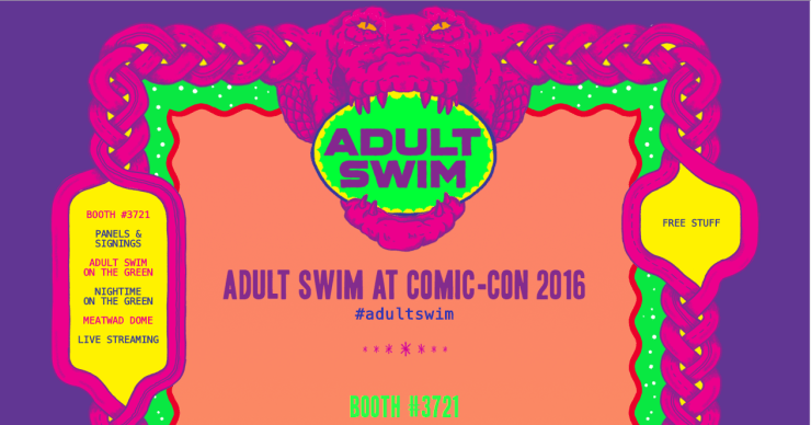 Adult Swim Comic CON Press Release