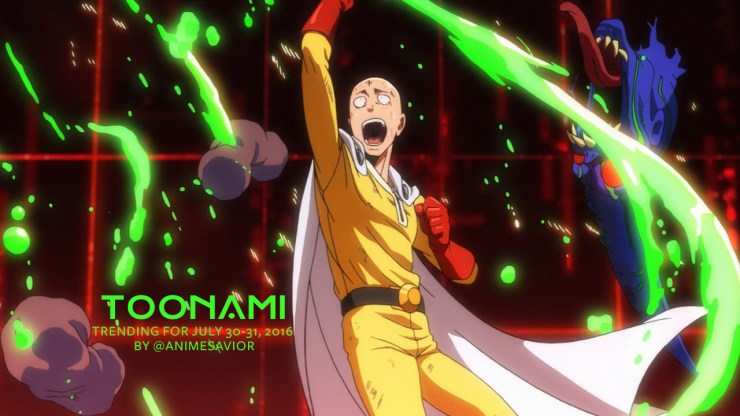 Toonami Trending Rundown for July 30th-31st, 2016