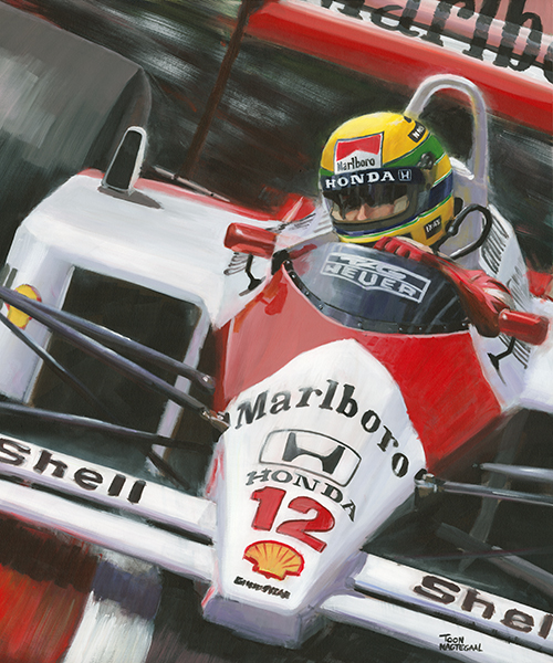 Ayrton Senna in de McLaren MP4/4 (1988)