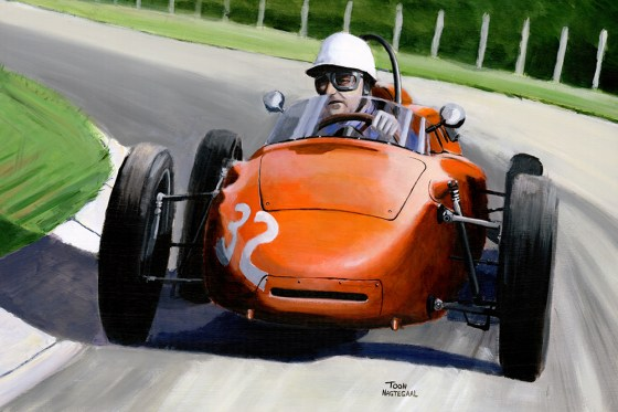 Carel Godin de Beaufort, GP van Zandvoort 1963. Acryl op canvas, 60x90.