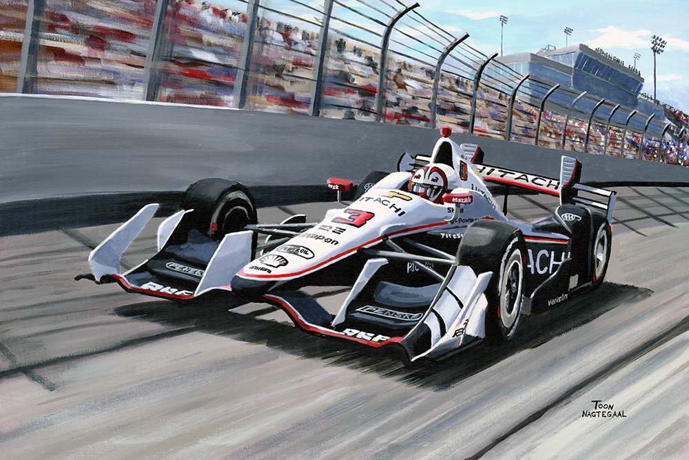 Helio Castroneves wint de Iowa Corn 300