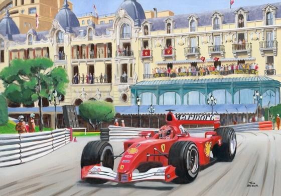 Michael Schumacher wint de GP van Monaco (2001).