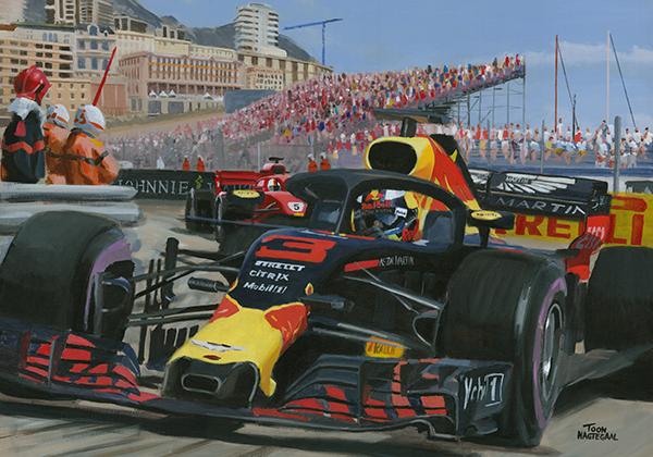 Daniel Ricciardo wint de GP van Monaco (2018)