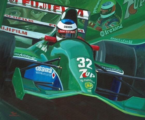 Michael Schumacher Jordan 191 Debüt Gemälde Toon Nagtegaal