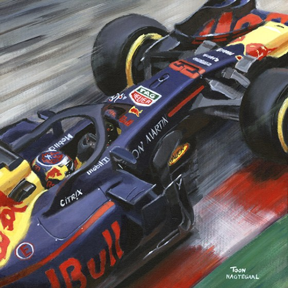 Max Verstappen 2018 Aston Martin Red Bull Racing
