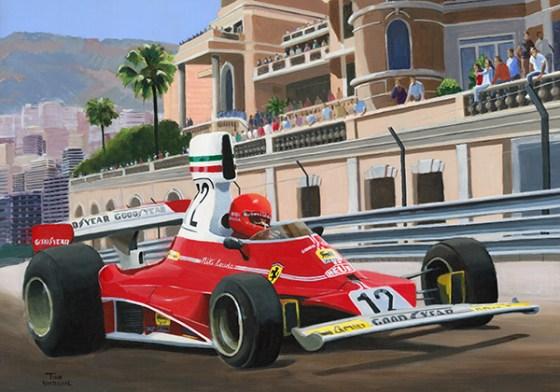 Niki Lauda wint de GP van Monaco 1975