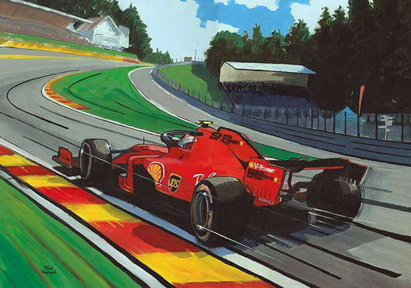 Charles Leclercs eerste overwinning, Spa 2019
