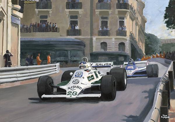 Carlos Reutemann wint de GP van Monaco (1980)