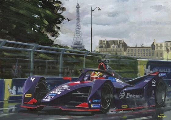 Robin Frijns wint de ePrix in Parijs 2019(Envision Virgin Racing)