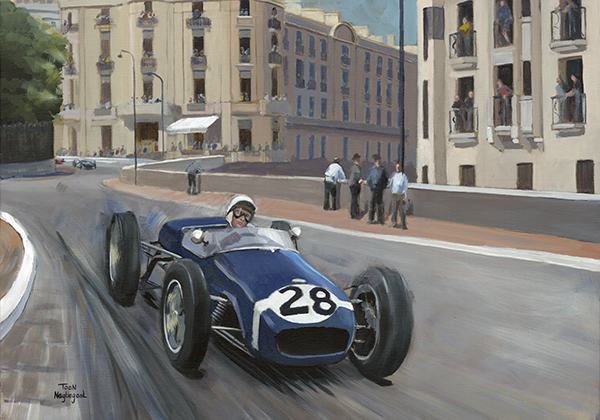 Winnaar GP Monaco 1960: Stirling Moss