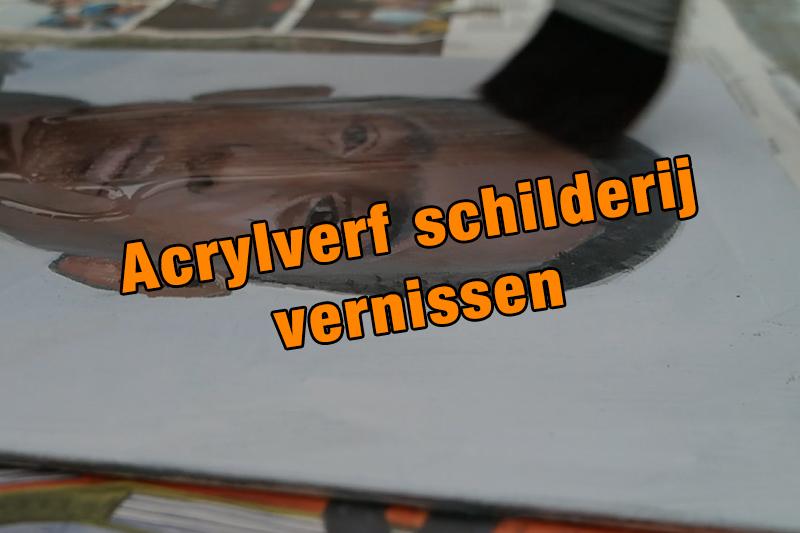 Acrylverf schilderij vernissen
