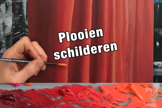 Plooien schilderen met acrylverf