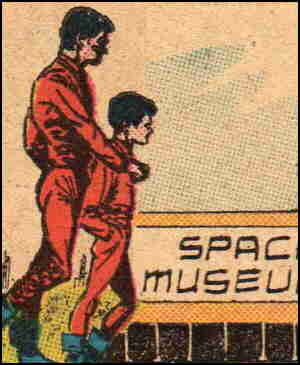 Tommy and his dad visit the museum. Artist: Carmine Infantino.