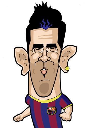 Cartoon: David Villa (medium) by Ca11an tagged vavid,villa,barcalona,spain,caricatures,world,cup,legends,book
