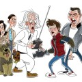 Cartoon back to the future medium by stephen silver tagged back to