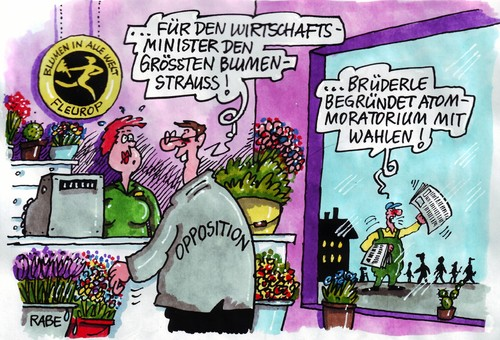 Blumengre By RABE  Politics Cartoon  TOONPOOL